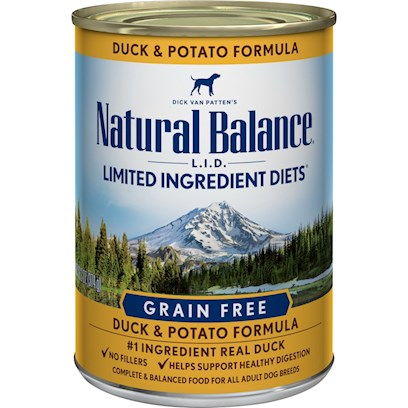 Natural Balance Presents Natural Balance L.I.D Limited Ingredient Diets Duck and Potato Canned Dog Formula 13.2oz - Case of 12. Natural Balance L.I.D Limited Ingredient Diets Duck and Potato Canned Dog Formula Follows our Special Grain-Free Diet Formula, Providing High Quality Nutrition for your Dog, with a Limited Number of Protein and Carbohydrate Sources. [27210]