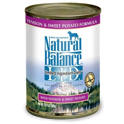 Natural Balance Presents Natural Balance L.I.D Limited Ingredient Diets Venison and Sweet Potato Canned Dog Formula 13oz - Case of 12. Natural Balance L.I.D. Limited Ingredient Diets Venison &amp; Sweet Potato Canned Formula is our Special Grain-Free Diet which Provides High Quality Nutrition for your Dog, with a Limited Number of Protein and Carbohydrate Sources. [27211]