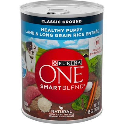 Nestle Purina Petcare Presents O.N.E. Canned Lamb and Long Grain Rice Dog Food 13oz Cans/Case of 12. O.N.E. Canned Lamb and Long Grain Rice Dog Food, Watch your Dog's Eyes Light Up when you Serve Lamb &amp; Brown Rice Entre, Made with Complete Nutrition for Adult Dogs. [27214]