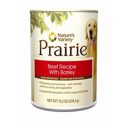 Nature's Variety Presents Nature's Variety Canned Beef with Barley Dog Food 13.2oz Cans-Case of 12. Nature's Variety Canned Beef with Barley Dog Food. Your Dog is a Special Member of your Family, and he Depends on you for Love and Care. [27221]