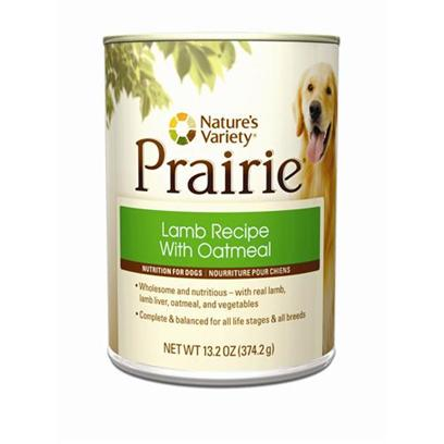 Nature's Variety Presents Nature's Variety Lamb with Oatmeal Canned Dog Food 13.2oz Cans/Case of 12. Nature's Variety Lamb with Oatmeal Canned Dog Food. Wholesome &amp; Nutritious, with Real Lamb, Lamb Liver, Oatmeal, and Vegetables. [27222]