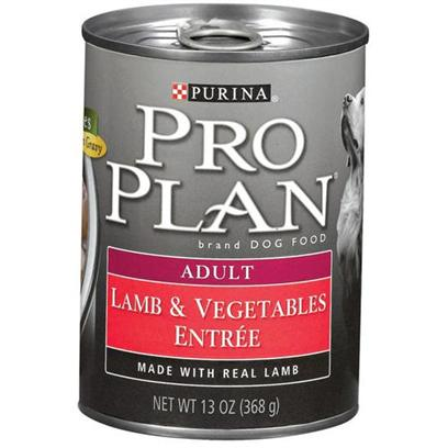 Nestle Purina Presents Purina Pro Plan Canned Lamb and Vegetables for Adult Dogs 13oz Cans/Case of 12. About Savor Adult Lamb &amp; Vegetables Entre Slices in Gravy Made with Real Lamb for Protein and Nutritious Vegetables High-Quality Ingredients for Great Taste [27233]