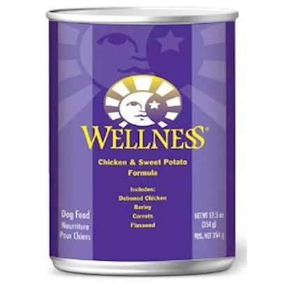 Wellpet Presents Wellness Chicken and Sweet Potato Canned Dog Food 6oz Cans/Case of 24. Savory Soft Food with Lots of Health Benefits Made with High-Quality Boneless Chicken, Nutrient-Rich Fruits and Vegetables, and Wholesome Grains, this Delicious and Nutritious Soft Food is Packed with Essential Vitamins, Minerals, and Proteins to Boost your DogS Energy, Immunity, and Overall Health. The Easy to Digest, all-Natural Recipe Meets Affo Nutrition Levels for Growth and Maintenance, so you can Feel Confident Giving your Dog this Soft and Yummy Meal. [27267]