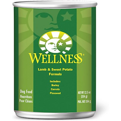 Wellpet Presents Wellness Canned Dog Food for Adults Lamb and Sweet Potato Recipe 6oz Cans/Case of 24. Llness Lamb &amp; Sweet Potato Recipe is an Excellent Source of High Quality Protein, Made with Real New Zealand Lamb. Lamb is also a Great Alternative for Dogs that Need a High Quality Protein Source but may be Allergic or Simply Intolerant of Other Commonly Used Protein Sources. The Sweet Potatoes Provide your Dog with an Excellent Source of Vitamins, Minerals and Beta-Carotene. [27275]