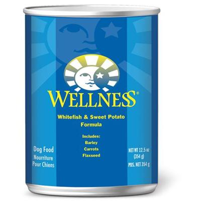 Wellness Canned Dog Food for Adult Dogs Whitefish & Sweet Potato Recipe