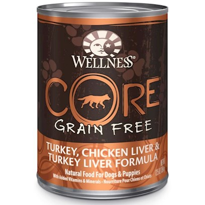 Wellpet Presents Wellness Core Grain Free Turkey Chicken Liver and Canned Dog Food 12.5oz Cans/Case of 12. The Core of Wellness Core Natural Food for Dogs with Added Vitamins and Minerals is Protein-Focused, Grain-Free Canned Dog Food. Your Dog'S Tail will Wag, and Mouth will Water for the Turkey, Chicken Liver and Turkey Liver Formula. The Protein and Nutrient-Rich, High-Quality Meat, with no Grains, is what Makes Wellness Core Natural Food for Dogs Truly a More Thoughtful and Healthy Choice. [27282]