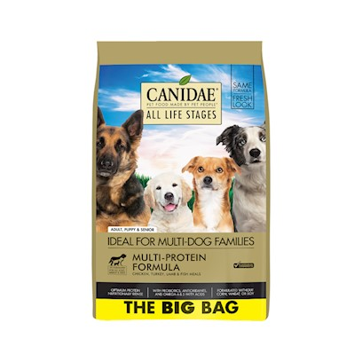 Canidae Presents Canidae all Life Stages Formula Dry Dog Food 35lb Bag. Canidae all Life Stages Formula Dry Dog Food is an all Natural Dog Formula, Designed for Dogs of all Ages, and Lifestyles. Made with Usda Approved Meat, and a Balanced Nutritious Mix of Fruits and Vegetables, your Dog will Love Canidae all Life Stages Formula Dry Dog Food. Reviewers Say their Dogs 'Coats are Very Shiny, and Soft, Due to the High Quality Ingredients, Designed for Maximum Benefit for all your Dogs. [27296]