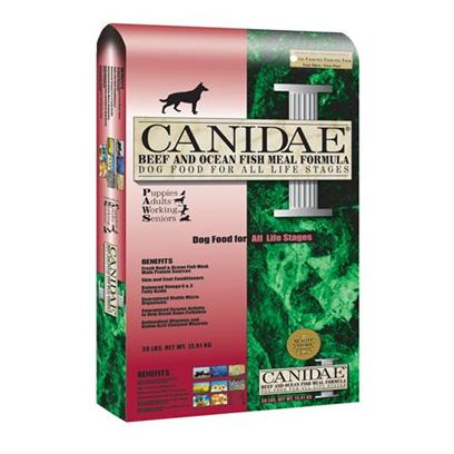 Canidae Presents Canidae Beef and Fish Meal Dry Dog Food &amp; 15lb. All Natural Dog Food Formula with High Quality Beef and Fish Meals Dogs Love the Taste!Nutritionally Dense Fresh Meat and Meals Originate from Meats Processed in a Human Grade Facilityprotein Rich Beef Meal Made from Usda Inspected Fresh Beef from a Private Herd in the Midwestern Usa Provides Wholesome Nutrition and Increased Energy Levels. These Cattle Graze Free Range and are Hormone and Antibiotic Free.Canidae Beef and Ocean Fish Meal Formula Meets the Aafco Dog Nutrient Profiles for all Life Stages.All Natural Holistic Benefits Made from Usda Inspected Fresh American Beef High Quality Beef and Ocean Fish Meals all Natural, High Quality, Holistic Pet Food Natural Ingredients Plus Essential Vitamins &amp; Amino Acid Chelated Minerals Naturally Preserved Herbal Formulation Excellent Palatability - Dogs Love Canidae Contains Skin &amp; Coat Conditioners to Maintain a Health Luxurious Coat Balanced Omega 6 &amp; 3 Fatty Acids Wholesome Nutritional Oatmeal &amp; Diversified Carbohydrates Superior Digestibility Guaranteed Viable Micro-Organisms Guaranteed Enzyme Activity to Help Break Down Cellulose Made the Canidae Way with Superior Quality no Corn, Wheat, Soy, Grain Fractions or Fillers and Naturally Preserve [27306]