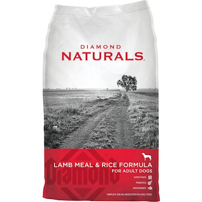 Diamond Pet Foods Presents Diamond Naturals Lamb and Rice Adult Dog Formula 40lb Bag. Analysis Crude Protein 23.0% Minimum Crude Fat 14.0% Minimum Crude Fiber 4.0% Maximum Moisture 10.0% Maximum Zinc 150 Mg/Kg Minimum Selenium 0.4 Mg/Kg Minimum Vitamin E 150 Iu/Kg Minimum Omega-6 Fatty Acids 2.2% Minimum Omega-3 Fatty Acids 0.4% Minimum [27330]