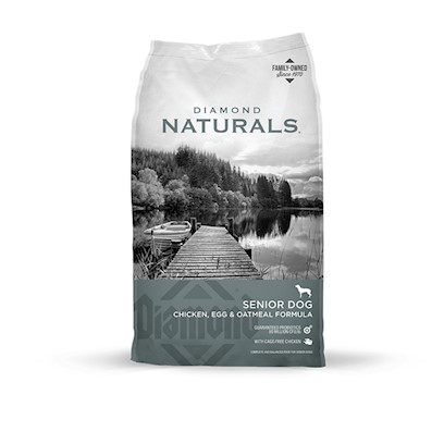 Diamond Pet Foods Presents Diamond Naturals-Senior 8+ Dry Dog Food 35lb Bag. Analysis Crude Protein 25.0% Minimum Crude Fat 11.0% Minimum Crude Fiber 3.0% Maximum Moisture 10.0% Maximum Calcium 1.0% Minimum Phosphorus 0.7% Minimum Vitamin E 150 Iu/Kg Minimum Sodium 0.3% Maximum Selenium 0.4 Mg/Kg Minimum L-Carnitine * 30 Mg/Kg Minimum Omega-6 Fatty Acids 2.2% Minimum Omega-3 Fatty Acids 0.3% Minimum Glucosamine Hydrochloride not Less than 1200 Mg/Kg Chondroitin Sulfate not Less than 400 Mg/Kg [27333]