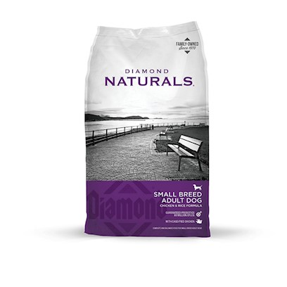 Diamond Pet Foods Presents Diamond Naturals-Small Breed Adult Dog-Chicken and Rice Formula 18lb Bag. Analysis Crude Protein 27.0% Minimum Crude Fat 16.0% Minimum Crude Fiber 3.0% Maximum Moisture 10.0% Maximum Zinc 150 Mg/Kg Minimum Selenium 0.4 Mg/Kg Minimum Vitamin E 150 Iu/Kg Minimum L-Carnitine * 30 Mg/Kg Minimum Omega-6 Fatty Acids 2.4% Minimum Omega-3 Fatty Acids 0.4% Minimum [27335]