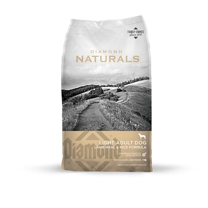 Diamond Pet Foods Presents Diamond Naturals Lamb and Rice Lite Dog Food 30lb. Diamond Naturals Lamb Meal &amp; Rice Lite Formula is a Low Calorie, High Fiber Formula that will Help your Overweight Dog Achieve a Healthier Lean Body Condition. With Added Features for Overall Good Health, this Formula is the Ultimate in Weight Management Tools for your Dog. Low Calories and Higher Fiber will Help your Overweight Dog Lose Weight for a Happier, Healthier Life Antioxidants for Overall Good Health Glucosamine and Chondroitin to Help Support Healthy Joints Controlled Levels of Omega Fatty Acids for Healthy Skin and Coat Added L-Carnitine to Help your Dog Maintain a Lean Body Condition no Wheat, no Corn, no Soy [27339]