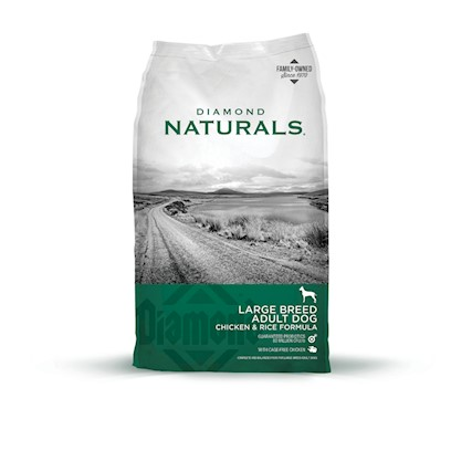 Diamond Pet Foods Presents Diamond Naturals Large Breed 60+ Dog Food 40lb Bag. Analysis Crude Protein 23.0% Minimum Crude Fat 13.0% Minimum Crude Fiber 4.0% Maximum Moisture 10.0% Maximum Calcium 1.1% Minimum Phosphorus 0.9% Minimum Phosphorus 1.1% Maximum Zinc 150 Mg/Kg Minimum Selenium 0.4 Mg/Kg Minimum Vitamin E 150 Iu/Kg Minimum L-Carnitine * 30 Mg/Kg Minimum Omega-6 Fatty Acids 2.0% Minimum Omega-3 Fatty Acids 0.3% Minimum Glucosamine Hydrochloride not Less than 750 Mg/Kg Chondroitin Sulfate not Less than 250 Mg/Kg [27342]