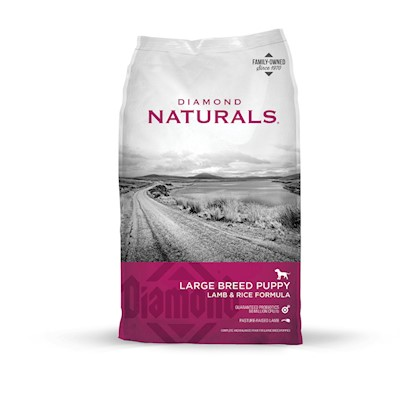 Diamond Pet Foods Presents Diamond Naturals Large Breed Puppy Lamb and Rice Formula 20lb Bag. Proper Levels of Protein, Fat, Calories and Minerals will Help your Large Breed Puppy Grow and Thrive. Calcium and Phosphorus Provide Ideal Bone and Joint Development, and the Addition of L-Carnitine Helps Convert Fat to Energy and Develop Lean Body Condition and Strong Bones. Also Contains Dha for Optimal Brain and Eye Development. [27348]