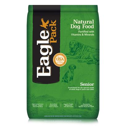 Wellpet Presents Eagle Pack Natural Dry Dog Food Senior Formula 30lb Bag. At Eagle Pack, we Know you Count on your Pet to be by your Side through all of Life's Adventures. For over 25 Years, We've Energized Best Friends Everywhere by Providing them Quality Natural Nutrition without Fillers or Artificial Preservatives. Our Foods Deliver the Right Balance of Proteins, Fats, Carbohydrates, Antioxidants and Omega Fatty Acids for Results you can see - Shiny Coat, Bright Eyes, Good Digestion and Energetic Spirit. Over the Years, our Formulas have been Performance-Proven with Backyard Ball Catchers, Show Ring Winners and Even Alaskan Dog Sled Racers. You Too can Count on our American-Made Foods to Naturally Fuel your Pet's Daily Adventures, Both Big and Small. Formulated for the Special Needs of Adult Dogs 8 Years and Olderformulated with the Right Amount of Protein and Fat to Help Senior Dogs Mantain a Healthy Weight.Instead, our Formulas are Preserved Naturally and Include Healthy, Flavorful Ingredients.A Variety of Proteins Help Support Healthy Muscle Tone while Providing a Great Flavor Dogs Love.Additional Nutritional Support Comes from Glucosamine Hydrochloride to Help Mantain Joint Health and Flaxseed to Support Skin and Coat Health.Fortified with our Complete Citamin and Mineral Package; Antioxidants Like Vitamin C Help Support Healthy Immune Function. [27362]