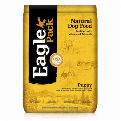 Wellpet Presents Eagle Pack Natural Dry Dog Food Puppy Formula 15lb Bag. At Eagle Pack, we Know you Count on your Pet to be by your Side through all of Life's Adventures. For over 25 Years, We've Energized Best Friends Everywhere by Providing them Quality Natural Nutrition without Fillers or Artificial Preservatives. Our Foods Deliver the Right Balance of Proteins, Fats, Carbohydrates, Antioxidants and Omega Fatty Acids for Results you can see - Shiny Coat, Bright Eyes, Good Digestion and Energetic Spirit. Over the Years, our Formulas have been Performance-Proven with Backyard Ball Catchers, Show Ring Winners and Even Alaskan Dog Sled Racers. You Too can Count on our American-Made Foods to Naturally Fuel your Pet's Daily Adventures, Both Big and Small. Formulated for the Healthy Growth of Small &amp; Medium Breed Puppies under 1 Yearfortified with our Complete Vitamin and Mineral Package; Antioxidants Like Vitamin C Help Support Healthy Immune Function.Instead, our Formulas are Preserved Naturally and Include Healthy, Flavorful Ingredients.A Variety of Proteins Help Support Healthy Muscle Tone while Providing a Great Flavor Dogs Love.Controlled Calories and Balanced Mineral Levels Help Support the Proper Pace of Muscular and Skeletal Growth.Dha, a Fatty Acid also Found in Mother's Milk, Helps Support Optimal Development of the Brain and Eyes. [27364]