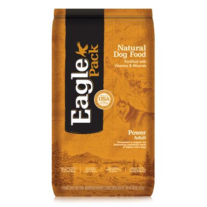 Wellpet Presents Eagle Pack Natural Dry Dog Food Power Adult Formula 40lb Bag. At Eagle Pack, we Know you Count on your Pet to be by your Side through all of Life's Adventures. For over 25 Years, We've Energized Best Friends Everywhere by Providing them Quality Natural Nutrition without Fillers or Artificial Preservatives. Our Foods Deliver the Right Balance of Proteins, Fats, Carbohydrates, Antioxidants and Omega Fatty Acids for Results you can see - Shiny Coat, Bright Eyes, Good Digestion and Energetic Spirit. Over the Years, our Formulas have been Performance-Proven with Backyard Ball Catchers, Show Ring Winners and Even Alaskan Dog Sled Racers. You Too can Count on our American-Made Foods to Naturally Fuel your Pet's Daily Adventures, Both Big and Small. Formulated to Support the Demanding Nutritional Needs of Highly Active Dogsa Variety of Proteins Help Support Healthy Muscle Tone while Providing a Great Flavor Dogs Love.With 20% More Protein and 33% More Fat than our Original Pork Meal &amp; Chicken Meal Formula to Help Support Healthy Energy Release and Sustained Endurance.A Unique Mix of Carbohydrates Help Support the Advanced Energy Needs of Highly Active Dogs. Additional Nutritional Support Comes from Glucosamine Hydrochloride to Help Maintain Joint Health and Flaxseed to Support Skin and Coat Health.Our Formulas are Preserved Naturally and Include Healthy, Flavorful Ingredients. [27370]