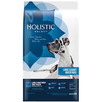 Wellpet Presents Holistic Select-Large &amp; Giant Breed Adult Health Chicken Meal Oatmeal Dry Dog Food 30lb Bag. Created for your Large or Giant Breed Adult DogS Total Body Healththis Holistic Select Large &amp; Giant Breed Adult Health Chicken Meal &amp; Oatmeal Dry Dog Food is Formulated with our Unique Digestive Health Support System, Including Active Probiotics, Healthy Fiber and Digestive Enzymes. When Combined with our Other High Quality, Natural Ingredients, this Recipe Supports the Absorption and Utilization of Vital Nutrients Throughout your DogS Entire Body. Your Dog will Look and Feel Healthy from the Inside Out. [27383]