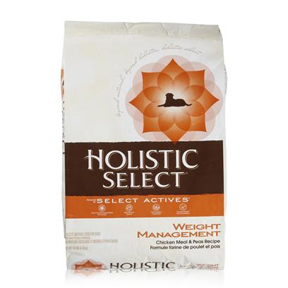 Wellpet Presents Holistic Select Weight Management Chicken Meal &amp; Peas Recipe Dry Dog Food 14lb Bag. Digestive Health is the Core of Whole-Body Health. Holistic Select is the only Natural Pet Food that has a Complete Digestive Balance System. Holistic Select Dry Dog Recipes Start with Concentrated Premium Proteins, Like Anchovy and Lamb, Fruits and Vegetables, Includes Select Active Ingredients and has a Digestive Balance System that Work Together to Optimize Nutrient Absorption for Whole-Body Health and Vitality. The Digestive Balance System Includes Digestive Enzymes and Botanicals to Breakdown Food and Aid Digestion, Prebiotics and Probiotics, Beneficial Ingredients Like Those Found in Yogurt and Natural Fiber to Help Move Waste through the Digestive Tract. Holistic Select Weight Management Chicken Meal &amp; Peas Recipe, is Designed to Meet the Needs Overweight or Less Active Dogs. With 30 Percent Less Fat than the Adult Health Chicken Meal &amp; Rice Recipe, and Guaranteed Levels of L-Carnitine as Studies Show that L-Carnitine may Help Reduce Overall Body Fat. Nutrition Analysis Crude Protein not Less than 21.00% Crude Fat not Less than 7.50% Crude Fiber not More than 9.00% Moisture not More than 10.00% Calcium not Less than .80% Phosphorus not Less than 0.75% Vitamin a not Less than 22,000 Iu/Kg Vitamin E not Less what it's Made without Meat by-Products, Corn or Corn Gluten, Soy, Artificial Preservatives, Wheat or Wheat Gluten or Artificial Flavors, Colors or Dyes [27392]