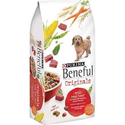 Purina Presents Purina Beneful Original Dry Dog Food 15.5lb Bag. Beneful Brand Dog Food Original Helps Keep your Dog Happy and Healthy with a Perfect Balance of Healthful Ingredients, Quality Nutrition and Superb Taste. ItS Made with Wholesome Grains and Real Beef, and Accented with Vitamin-Rich Vegetables. [27402]