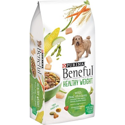 Purina Presents Purina Beneful-Healthy Weight Dry Dog Food 15.5lb Bag. Beneful® Brand Dog Food Healthy Weight Provides Calorie-Smart Nutrition that Helps Keep your Dog Happy and Healthy – with 10% Fewer Calories than Beneful® Original. It'S Made with Wholesome Rice, Real Chicken and Soy, and Accented with Vitamin-Rich Vegetables. It is also Acked with Essential Vitamins, Minerals, and Proteins, Purina Beneful Healthy Weight Dog Food does More than just Maintain your Dog'S Weight - it Boosts Overall Health. It'S the Perfect Combination of Low-Calorie Ingredients, Balanced Nutrition, and First-Rate Taste! [27409]