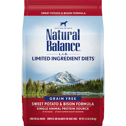 Natural Balance Presents Natural Balance L.I.D. (Limited Ingredients Diets) Sweet Potato and Bison Dry Dog Food 28lb Bag. Protein with a Purpose the Natural Balance Brand Led the Charge of the Limited Ingredients Diet Craze for Simpler, Easier to Digest Pet Foods. They were also the First Pet Food on the Market to Offer Bison as the Primary Protein, which Came as Quite a Relief to the Many Pet Owners Whose Dogs have Trouble Digesting More Common Meat Kibbles. Natural Balance Bison and Sweet Potato Dry Food for Dogs is Nutrient Dense and Easily Digestible. It'S High Quality Bison is a Lean Meat that'S Rich in Amino Acids with Fewer Calories and Less Fat Compared to Other Meats. What'S More, Natural Balance'S High Plains Bison are Raised on an all-Natural Diet without Antibiotics or Hormones. [27428]