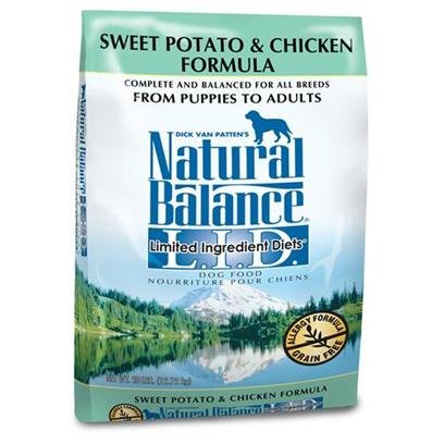 Natural Balance Presents Natural Balance L.I.D. Limited Ingredient Diets-Sweet Potato and Chicken Dry Dog Food 15lb Bag. Dogs with Sensitive Stomachs Often have a Hard Time with Regular Proteins Found in Dog Food. The Natural Balance Chicken and Sweet Potato is for Dogs is Specially Formulated for Dogs that are Highly Sensitive to Commonly Used Dog Food Proteins. The Delicious Flavor Comes from Real Chicken and Sweet Potatos, and itS Combined with Other Natural Ingredients to Help Rebuild the Dog's Immune System. Your Dog will Love the Taste of Real Chicken, and youLl Love their Improved Health and Digestion. Reviewers Say their Dogs that canT Tolerate Other Proteins Love Natural Balance Chicken and Sweet Potato [37306]