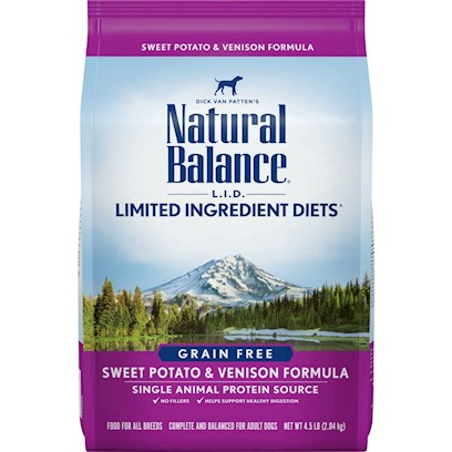 Natural Balance Presents Natural Balance L.I.D. Limited Ingredient Diets-Sweet Potato and Venison Dry Dog Food 28lb Bag. Natural Balance® L.I.D. Limited Ingredient Diets® are Designed with a Limited Number of Protein and Carbohydrate Sources. Scientifically Formulated to Provide High Quality Nutrition and Optimize your Dog'S Skin and Coat, L.I.D. Limited Ingredient Diets® are Complete and Balanced Options for all Breeds and Life Stages.Just Like Humans, some Dogs have More Sensitive Stomachs than Others. Natural Balance Sweet Potato and Venison Formula Dry Dog Food is an all Natural and Grain-Free Food that Contains Easily Digestible and Nutritious Ingredients, which Help your Dog'S Immune Health and Body Toning. The Venison and Sweet Potato Formula Provide a Deliciously Balanced Healthy Food for Dogs that will Make their Mouths Water. [27436]