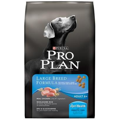 Nestle Purina Petcare Presents Purina Pro Plan Specialized Nutrition Senior Dry Dog Food 34lb Bag. Pro Plan Focus Large Breed Dog Food is Specialized Nutrition Formulated to Meet the Unique Dietary Needs of Large Breed Dogs (Weighing 50 Lbs. Or More). With Chicken as the First Ingredient you Know your Dog is Getting a High Quality Source of Protein with Every Meal. A High Protein Level, Combined with Proper Exercise, Helps Promote Muscle Conditioning. Pro Plan Focus Large Breed Dog Food Contains Epa, an Omega-6 Fatty Acid, and Glucosamine to Help Support your Large Breed Dogs Joint Health and Mobility. [27504]