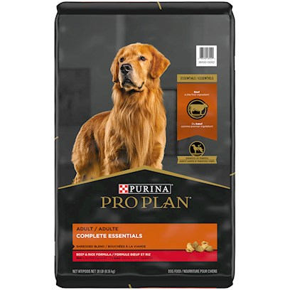 Nestle Purina Petcare Presents Purina Pro Plan Shredded Blend Beef and Rice Dry Food for Adult Dogs 18lb Bag. Pro Plan Savor Shredded Blend Beef & Rice Dog Food for Adult Dogs Offers the Nutritional Extras You've Come to Expect from Pro Plan. We Start with Real Beef as the First Ingredient in a Multi-Textured Blend of Hard Kibble and Savory Tender Shredded Pieces--For an Optimum Combination of Nutrition and Taste. Then we Added Wholesome Grains, Including Rice and Whole Wheat, which are Highly Digestible Sources of Carbohydrates for Energy and Prebiotic Fiber, Sourced from Wheat Bran, to Help Promote Digestive Health [27535]