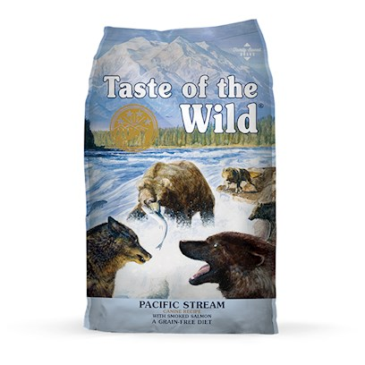 Diamond Pet Foods Presents Taste of the Wild-Pacific Stream Canine with Smoked Salmon 30lb Bag. Real Pacific Stream Smoked Salmon Taste of the Wild Pacific Stream Canine Formula with Smoked Salmon, has all the Flavors and Nutrients your Dog Craves. This Grain-Free, Salmon Protein Formula with Sweet Potatoes, Supplemented with Fruits and Vegetables, Provides Highly Digestible Energy and Natural Antioxidants for your Sensitive Dog. Because Taste of the Wild Pacific Stream Canine Formula with Smoked Salmon is Made with Real Smoked Salmon, your Dog Benefits from Natural Omega Fatty Acids, as Well as the Great Taste. [27578]