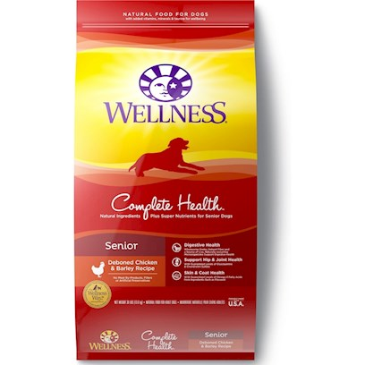 Wellpet Presents Wellness Super5mix just for Senior Dry Dog Food 15lb Bag. Super5mix for the Super Seniors! Wellness Super5mix just for Seniors Dry Dog Food Contains High-Quality Ingredients, Carefully Chosen to Improve the Complete Health, and Overall Fitness and Longevity of your Senior Dog. The 5 in Super5mix Comes from the Beautifully Balanced Patented Combination of Fruit and Vegetable Antioxidant Rainbow Wellcoat, Omega 3 and 6 Mix Botanical and Herb Blend Essential Vitamins and Minerals, and Acticoat with Live Micro-Organisms. Give your Super Senior some Super Longevity, with Wellness Super5mix just for Seniors. [27599]