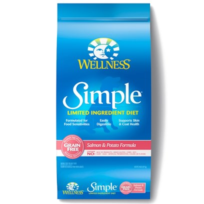 Wellpet Presents Wellness Simple Salmon & Potato Formula Dry Dog Food 26lb Bag. At Wellness, Every Ingredient Chosen has a Purpose, Especially when it Comes to Dogs with Food Sensitivities. This Natural, Limited-Ingredient Diet Dog Food Recipe Keeps it Simple with a Single Source of Protein and Easily Digestible Carbohydrates, without Extra Fillers or Additives. This Short, yet Complete, List of Key Ingredients Nourishes Simply and Completely from the Inside out with Results you can See. Just Like all Wellness Dog Food Recipes, what Stays out is as Important as what Goes in, Wellness does not Use Wheat, Corn, Soy, Gluten or Artificial Preservatives, Colors or Flavors in this Simple Formula. As Animal Lovers, Nutritionists and Vets, their Mission is to Provide your Pet a Healthy, Happy, Long Life through the Power of Natural Nutrition. Talk to your Vet About this Natural Alternative to Therapeutic Prescription Diets. The Choice for Natural Relief is Simple. Contains no Meat by-Products, Wheat, Gluten, Corn, Dairy, Eggs, Artificial Preservatives, Colors or Flavors ' [27606]