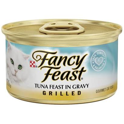 Nestle Purina Petcare Presents Fancy Feast Canned Tuna for Cats Flaked Tuna-3oz Cans/Case of 24. Analysis Crude Protein (Min) 11.0% Crude Fat (Min) 2.0% Crude Fiber (Max) 1.5% Moisture (Max) 80.0% Ash (Max) 2.7% Taurine (Min) 0.05% [27767]