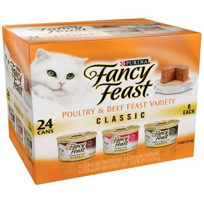 Nestle Purina Petcare Presents Fancy Feast Canned Loaf Variety Pack for Cats 3oz Cans/Case of 24. Analysis see Individual Product Details for Guaranteed Analysis. [27826]