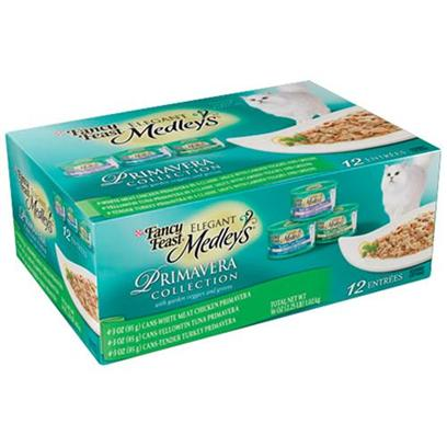 Nestle Purina Petcare Presents Fancy Feast Elegant Medley Primavera Collection for Cats 3oz Cans/Case of 12. Analysis see Individual Product Details for Guaranteed Analysis. [27849]