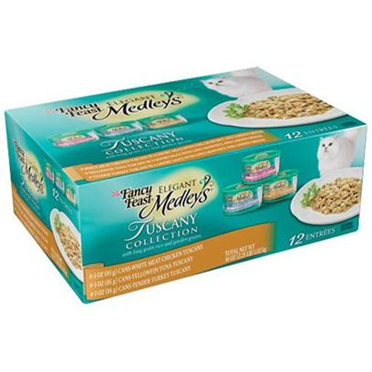 Nestle Purina Petcare Presents Fancy Feast Elegant Medley Tuscany Collection for Cats 3oz Cans/Case of 12. Analysis see Individual Product Details for Guaranteed Analysis. [27850]