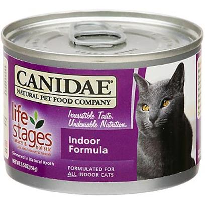 Canidae Presents Felidae Canned Cat Food 13oz Cans-Case of 12. Analysis Crude Protein (Min.) 11.00% Crude Fat (Min.) 7.00% Crude Fiber (Max.) 1.00% Moisture (Max.) 78.00% Linoleic Acid (Omega 6) (Max.) 1.00% Magnesium (Max.) 0.025% Ash (Max.) 1.90% Calcium (Min.) 0.25% Phosphorous (Min.) 0.20% Taurine (Min.) 0.05% Alpha Linolenic Acid (Omega 3) (Min.) 0.20% Ph 5.5 [27852]
