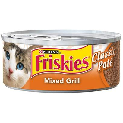 Nestle Purina Petcare Presents Friskies Canned Classic Pate Sliced Grill for Cats 5.5oz Cans/Case of 24. -Friskies Canned Classic Pate Sliced Grill for Cats, Great Taste for your Cat! [27926]