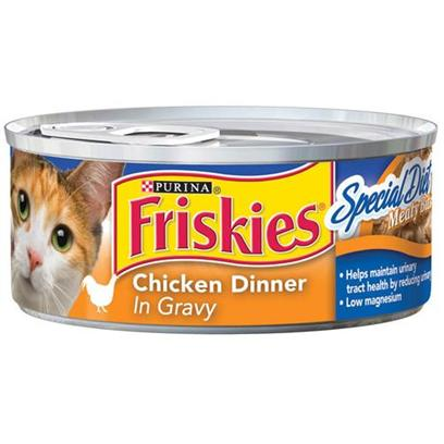 Nestle Purina Petcare Presents Friskies Classic Pate Special Diet Chicken &amp; Gravy for Cats 5.5oz Cans/Case of 24. -Friskies Classic Pate Special Diet Chicken &amp; Gravy for Cats, your Cat will Love the Taste while Helping Maintain Urinary Tract Health. [27945]