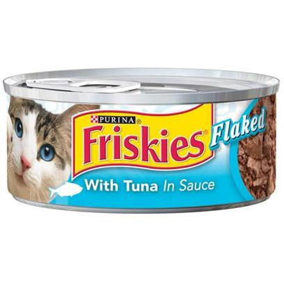 Nestle Purina Petcare Presents Friskies Classic Pate Flaked Tuna for Cats 5.5oz Cans-Case of 24. -Friskies Classic Pate Flaked Tuna for Cats, Great Tuna Taste for your Cat! [27954]