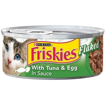 Nestle Purina Petcare Presents Friskies Classic Pate Flaked Tuna and Egg for Cats 5.5oz Cans-Case of 24. -Friskies Classic Pate Flaked Tuna and Egg for Cats, Great Taste for your Cat! [27955]