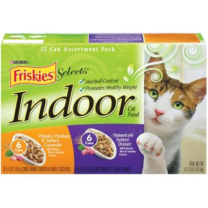 Nestle Purina Petcare Presents Friskies Select Indoor Gravy Collection Pack for Cats 5.5oz Cans/Case of 12 (6 Each Chicken/Turkey Turkey). Analysis see Individual Product Details for Guaranteed Analysis. [27971]