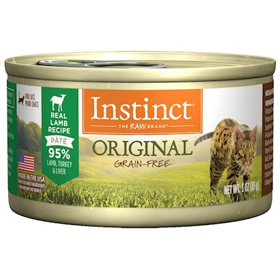 Nature's Variety Presents Nature's Variety Instinct Grain Free Lamb Canned Cat Food 3oz Cans-Case of 24. Grain-Free Canned Cat Food (no Fillers or Soy) - Proven to Provide Great Taste and Nutrition Complete and Balanced for all Life Stages and all Breeds Made in the Usa Helps your Cat Reach and Maintain an Ideal Weight Along with Proper Portions and Exercise may Provide Relief from Most Food Allergy Symptoms [27994]