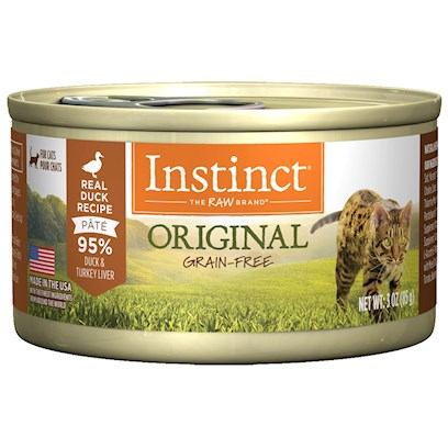 Nature's Variety Presents Nature's Variety Instinct Grain Free Duck Canned Cat Food 3oz Cans-Case of 24. Grain-Free Canned Cat Food (no Fillers or Soy) - Proven to Provide Great Taste and Nutrition Complete and Balanced for all Life Stages and all Breeds Made in the Usa Helps your Cat Reach and Maintain an Ideal Weight Along with Proper Portions and Exercise may Provide Relief from Most Food Allergy Symptoms [27996]
