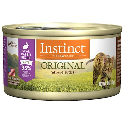 Nature's Variety Presents Nature's Variety Instinct Grain Free Rabbit Canned Cat Food 3.0oz Case of 24. Nature's Variety Instinct Grain Free Rabbit Canned Cat Food. Complete and Balanced for all Life Stages and all Breeds. [27998]