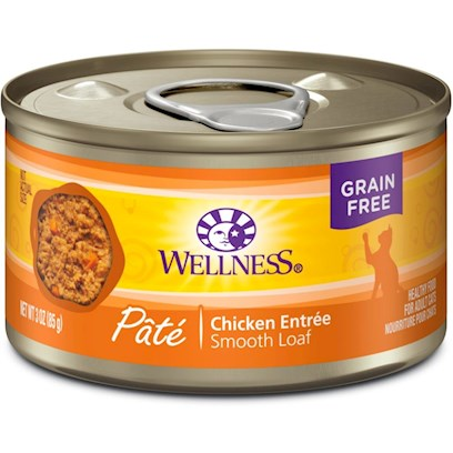 Wellpet Presents Wellness Chicken Formula Canned Cat Food 3oz Cans-Case of 24. YouLl Get a Kitty Cat High Five, for Wellness Super5. Wellness Super5mix Canned Chicken Recipe Contains High Quality Protein from Chicken, Sweet Potatoes, Carrots, Whole Cranberries and Blueberries, and is an Excellent Source of Vitamins, Minerals and Beta-Carotene. You DonT have to Worry because Wellness Canned Chicken Recipe is Free of Added Hormones and Steroids. Every Ingredient in our Wellness Natural Food Recipes is Carefully Chosen for its Nutritional Benefits Providing just what your Faithful Friend Needs for a Happier, Healthier, Longer Life, Claims Wellness. [28051]