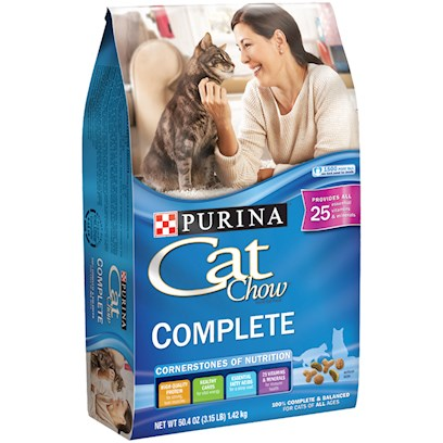 Nestle Purina Petcare Presents Purina Cat Chow Dry Food 16lb Bag. Analysis Crude Protein (Min) 34.0% Crude Fat (Min) 13.0% Crude Fiber (Max) 4.5% Moisture (Max) 12.0% Linoleic Acid (Min) 1.25% Arachidonic Acid (Min) 0.02% Calcium (Ca) (Min) 1.1% Phosphorus (P) (Min) 0.9% Selenium (Se) (Min) 0.30%Mg/Kg Vitamin a (Min) 10,000 Iu/Kg Vitamin E (Min) 70 Iu/Kg Taurine (Min) 0.15% [28088]