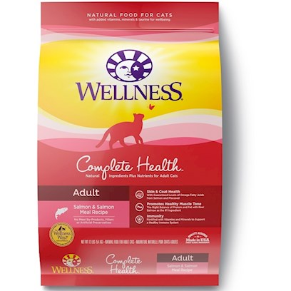 Wellpet Presents Wellness Dry Cat Food for Adult Complete Health Salmon Recipe 12lb Bag. At Wellness®, we Believe that a Thoughtful Approach to Nutrition is the Foundation of Wellbeing. We Use Delicious, Real-Foods Like Deboned Meats, Free of Added Hormones and Steroids, Wholesome Grains and Fresh Fruits and Vegetables to Provide the Perfect Balance of Protein, Energy, Vitamins, Minerals, and Antioxidants in the Healthiest Way Possible. Every Ingredient in our Wellness Natural Food Recipes is Carefully Chosen for its Nutritional Benefits Providing just what your Faithful Friend Needs for a Happier, Healthier, Longer Life.We've Made it our Mission for Almost a Decade to Offer Natural, Healthful, Great-Tasting Alternatives in Pet Nutrition. Over the Years, we have Helped Thousands of Pets and People Discover the Difference Choosing Wellness can Make. And that's Something We're Proud of because We're not just Nutritionists- we are Pet Owners and Pet Lovers Too. [28103]