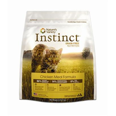 Nature's Variety Presents Nature's Variety Instinct Grain Free Chicken Meal & Turkey Dry Cat Food 12.1lb Bag. Highly Digestible Natural Nutrition be Sure that your Cat is Getting the Balanced Nutrition they Need with this Delicious Dry Food Packed with Proteins, Vitamins, and Minerals from Meats, Vegetables, and Fruits. By Excluding Grains, Gluten, and Potatoes from this Healthy Meal, Instinct Food is Highly Digestible and can Provide Relief from Common Food Allergy Symptoms. Made with High-Quality Chicken Meal and Salmon Meal, it'S a Great Source of Protein and Essential Fatty Acids. Tasty Vegetables Like Butternut Squash and Carrots are Packed with Vitamins and Minerals that are Important for Overall Health, while Cranberries and Blueberries Improve Urinary Tract Functions. For Added Nutrition and Flavor, Each Piece of Instinct Food is Coated with a Blend of Freeze-Dried Raw Food that your Cat will Love. Specially Formulated for Rotation Feeding, it'S an Ideal Food for Cats in all Stages of Life, and can Help Cats to Reach and Maintain a Healthy Weight. [28121]